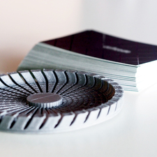 Business card carousel