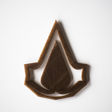 Assassins creed logo stencil