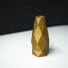 Faceted vase