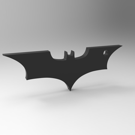 Batman the dark knight logo keychain