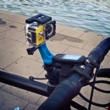 Stem cap bike camera mount
