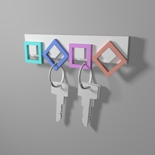 Wall key holder
