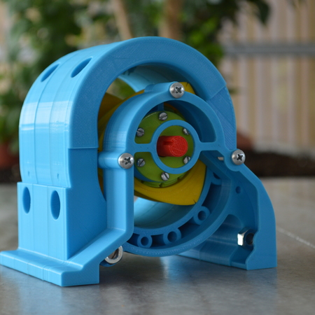 Wankel engine 3d printer model