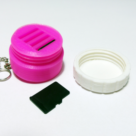 Keychain microsd containter   never run out of space