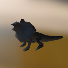 Low poly lizard